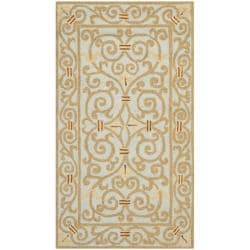 Safavieh Hand-hooked Chelsea Irongate Light Blue Wool Rug (2'9 x 4'9)