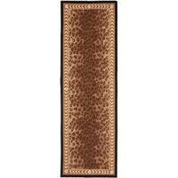 """Safavieh Hand-hooked Chelsea Leopard Brown Wool Rug - 2'6"""" x 10'"""