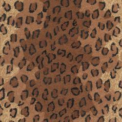 Safavieh Hand-hooked Chelsea Leopard Brown Wool Rug (2'6 x 12') - Thumbnail 2
