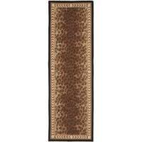 """Safavieh Hand-hooked Chelsea Leopard Brown Wool Rug - 2'6"""" x 12'"""