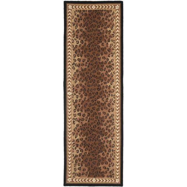 Safavieh Hand-hooked Chelsea Leopard Brown Wool Rug - 2'6 x 6'