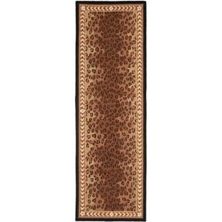 """Safavieh Hand-hooked Chelsea Leopard Brown Wool Rug - 2'6"""" x 6'"""