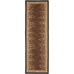 Safavieh Hand-hooked Chelsea Leopard Brown Wool Rug (2'6 x 8')