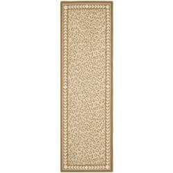 Safavieh Hand-hooked Chelsea Leopard Ivory Wool Rug (2'6 x 10') - 2'6 x 10' - Thumbnail 0