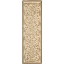 Safavieh Hand-hooked Chelsea Leopard Ivory Wool Rug (2'6 x 6')