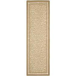 Safavieh Hand Hooked Chelsea Leopard Ivory Wool Rug (2u00276 X ...
