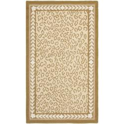 Safavieh Hand-hooked Chelsea Leopard Ivory Wool Rug (2'6 x 4')