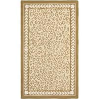 Safavieh Hand-hooked Chelsea Leopard Ivory Wool Rug - 2'6 x 4'