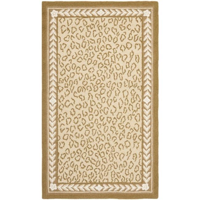 Safavieh Hand-hooked Chelsea Leopard Ivory Wool Rug (2'9 x 4'9)