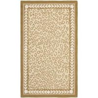 Safavieh Hand-hooked Chelsea Leopard Ivory Wool Rug - 2'9 x 4'9