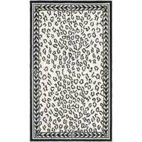 Safavieh Hand-hooked Chelsea Leopard White Wool Rug - 2'9 x 4'9