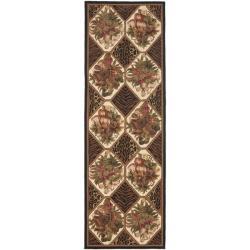 Safavieh Hand-hooked Chelsea Floral Brown Wool Rug (2'6 x 10')