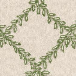 Safavieh Hand-hooked Trellis Ivory/ Light Green Wool Rug (2'9 x 4'9) - Thumbnail 2