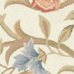 Safavieh Hand-hooked Garden Scrolls Ivory Wool Rug (2'6 x 8') - Thumbnail 2