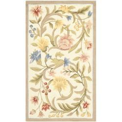 Safavieh Hand-hooked Garden Scrolls Ivory Wool Rug - 3'9 x 5'9