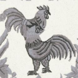 Safavieh Hand-hooked Hens Grey Wool Rug (2'6 x 12') - Thumbnail 2