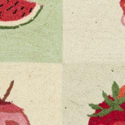 Safavieh Hand-hooked Fruit Panels Ivory Wool Rug (2'9 x 4'9) - Thumbnail 2