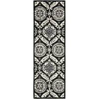 Safavieh Hand-hooked Chelsea Heritage Black Wool Rug (2'6 x 10') - 2'6 x 10'