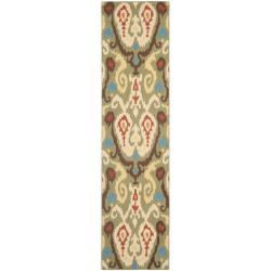 Safavieh Hand-hooked Chelsea Green Wool Rug (2'6 x 10')
