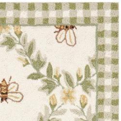 Safavieh Hand-hooked Bumblebee Ivory Wool Rug (2'6 x 4') - Thumbnail 1