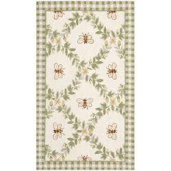 Safavieh Hand-hooked Bumblebee Ivory Wool Rug (2'9 x 4'9)