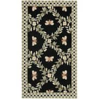 Safavieh Hand-hooked Bumblebee Black Wool Rug - 2'9 x 4'9