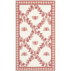 Safavieh Hand-hooked Bumblebee Ivory/ Rose Wool Rug - 2'9 x 4'9 - Thumbnail 0