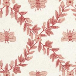 Safavieh Hand-hooked Bumblebee Ivory/ Rose Wool Rug (2'9 x 4'9) - Thumbnail 2