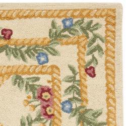 Safavieh Hand-hooked Trellis Ivory Wool Rug (2'9 x 4'9) - Thumbnail 1