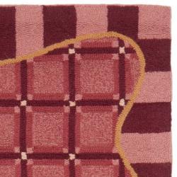 Safavieh Hand-hooked Chelsea Wine Red Wool Rug (2'6 x 8')