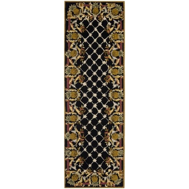 Safavieh Hand-hooked Chelsea Pineapples Black/ Multi Wool...