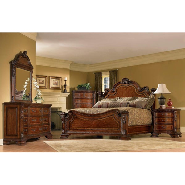 A R T Furniture Old World King Size Estate 5 Piece Bedroom Set Free Shipping Today