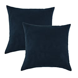 Slam Dunk Navy Simply Soft S-backed 17x17 Fiber Pillows (Set of 2)