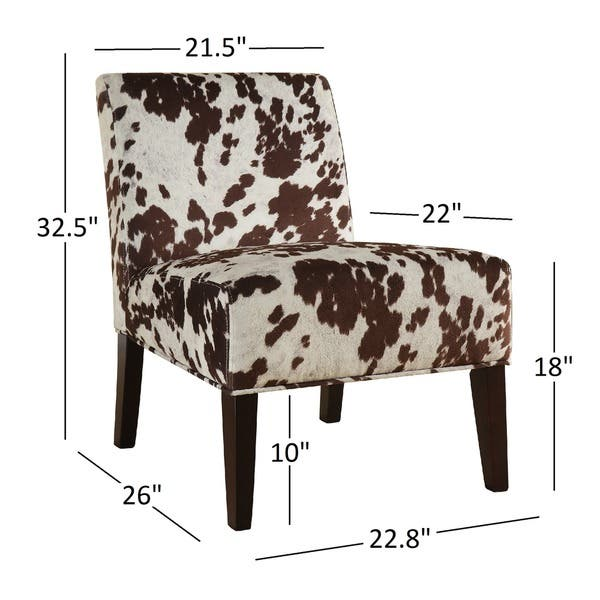 Amazing Shop Peterson Cowhide Fabric Slipper Accent Chair By Inspire Creativecarmelina Interior Chair Design Creativecarmelinacom