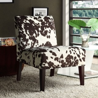 Peterson Cowhide Fabric Slipper Accent Chair by INSPIRE Q