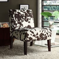 Peterson Cowhide Fabric Slipper Accent Chair by iNSPIRE Q Bold