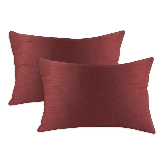 Shantung Vin Burgandy S-backed 12.5x19 Fiber Pillows (Set of 2)