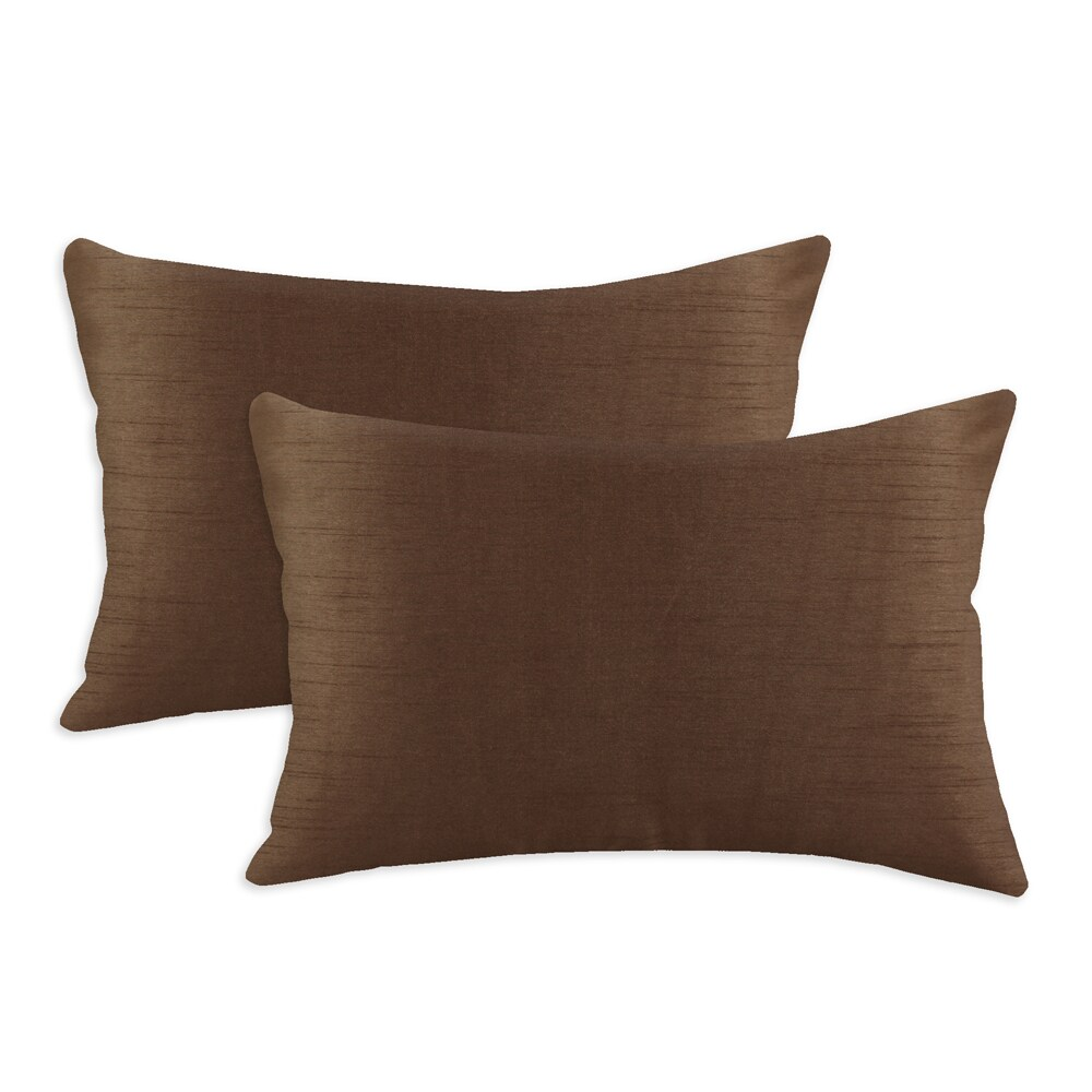 Shantung Espresso S-backed 12.5x19 Fiber Pillows (Set of 2)
