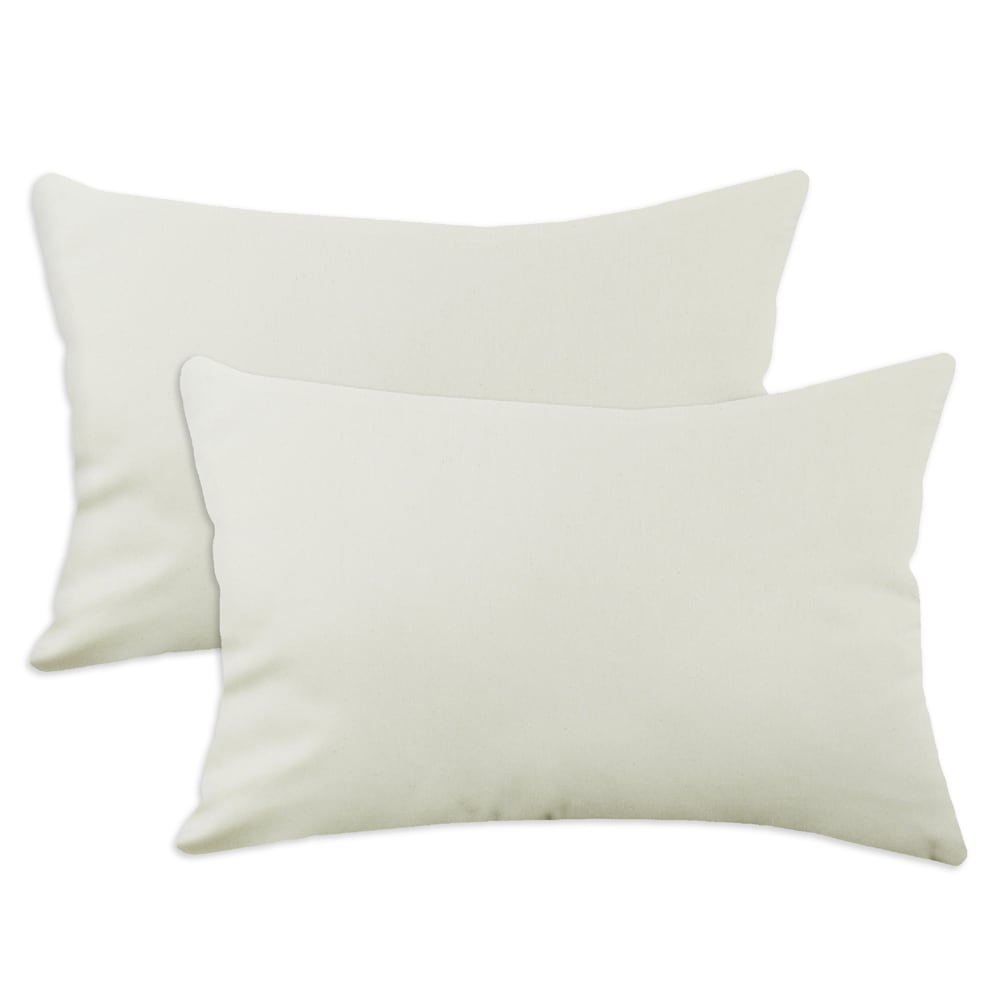 Saxony Natura Beigel S-backed 12.5x19 Fiber Pillows (Set of 2)