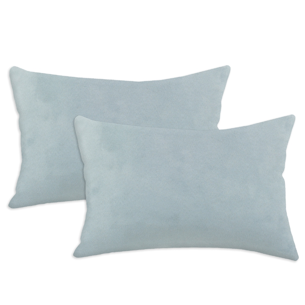 Passion Suede Cloud Blue Simply Soft S-backed 12.5x19 Fiber Pillows (Set of 2)