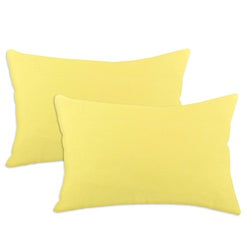 Duck Yellow S-backed 12.5x19-inch Fiber Pillows (Set of 2)