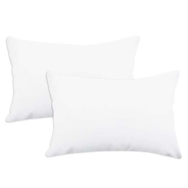Duck White S-backed 12.5x19-inch Fiber Pillows (Set of 2)