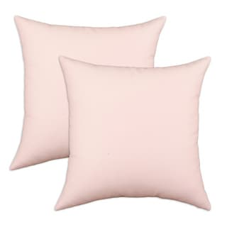 Duck Pink S-backed 17x17-inch Fiber Pillows (Set of 2)