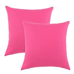 Duck French Pink S-backed 17x17-inch Fiber Pillows (Set of 2)
