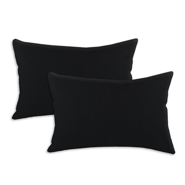 Duck Black S-backed 12.5x19-inch Fiber Pillows (Set of 2) - Thumbnail 0