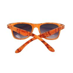 Kid's K3115-ORPB Oval Orange Frame Sunglasses with Black Shatter Design