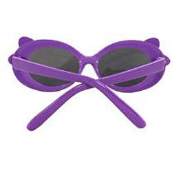 Kid's Oval K0208-PLSM Sunglasses Purple Frame Bow Tie Design - Thumbnail 2