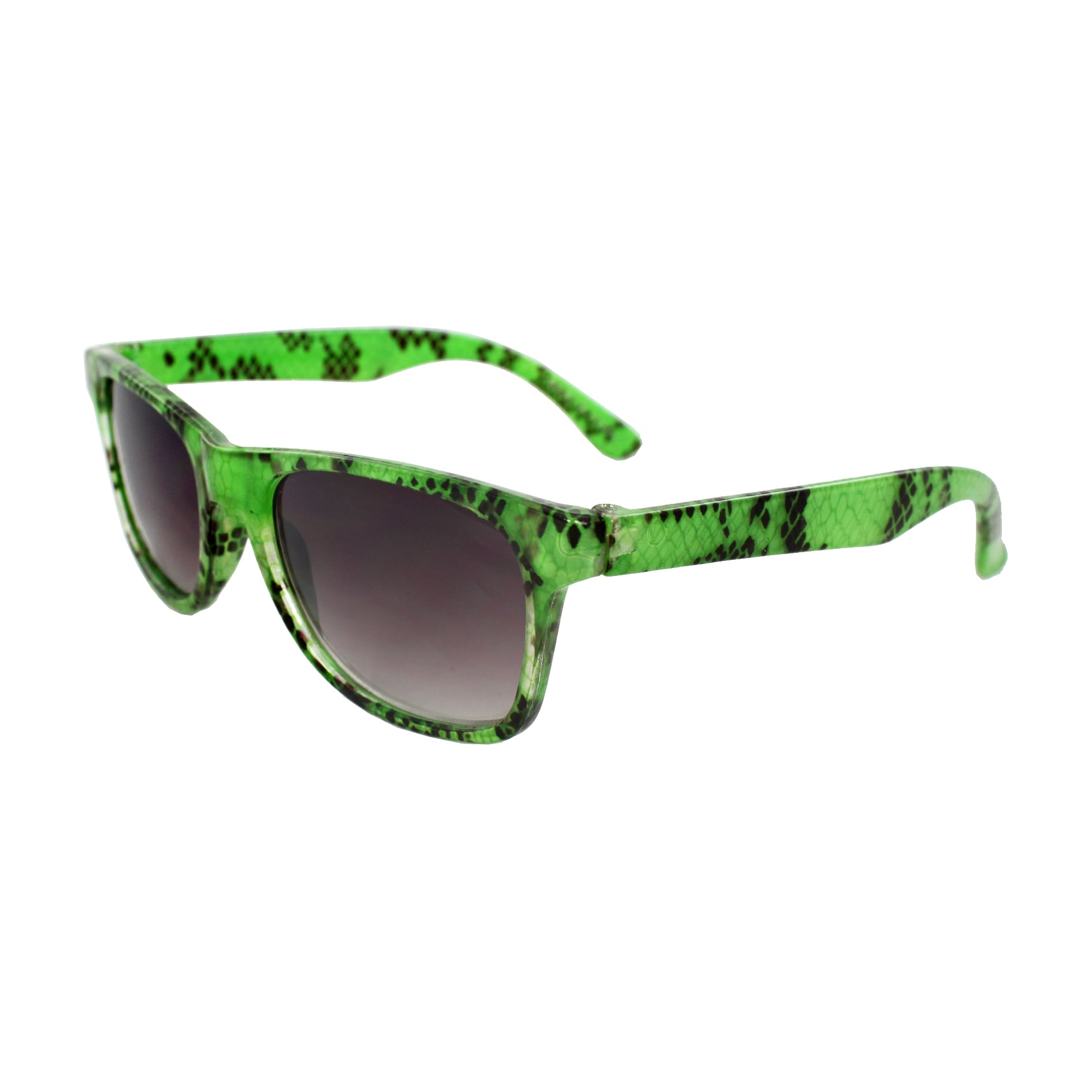 Kid's K3115-GNPB Oval Green Frame Fashion Sunglasses with Black Shatter Design