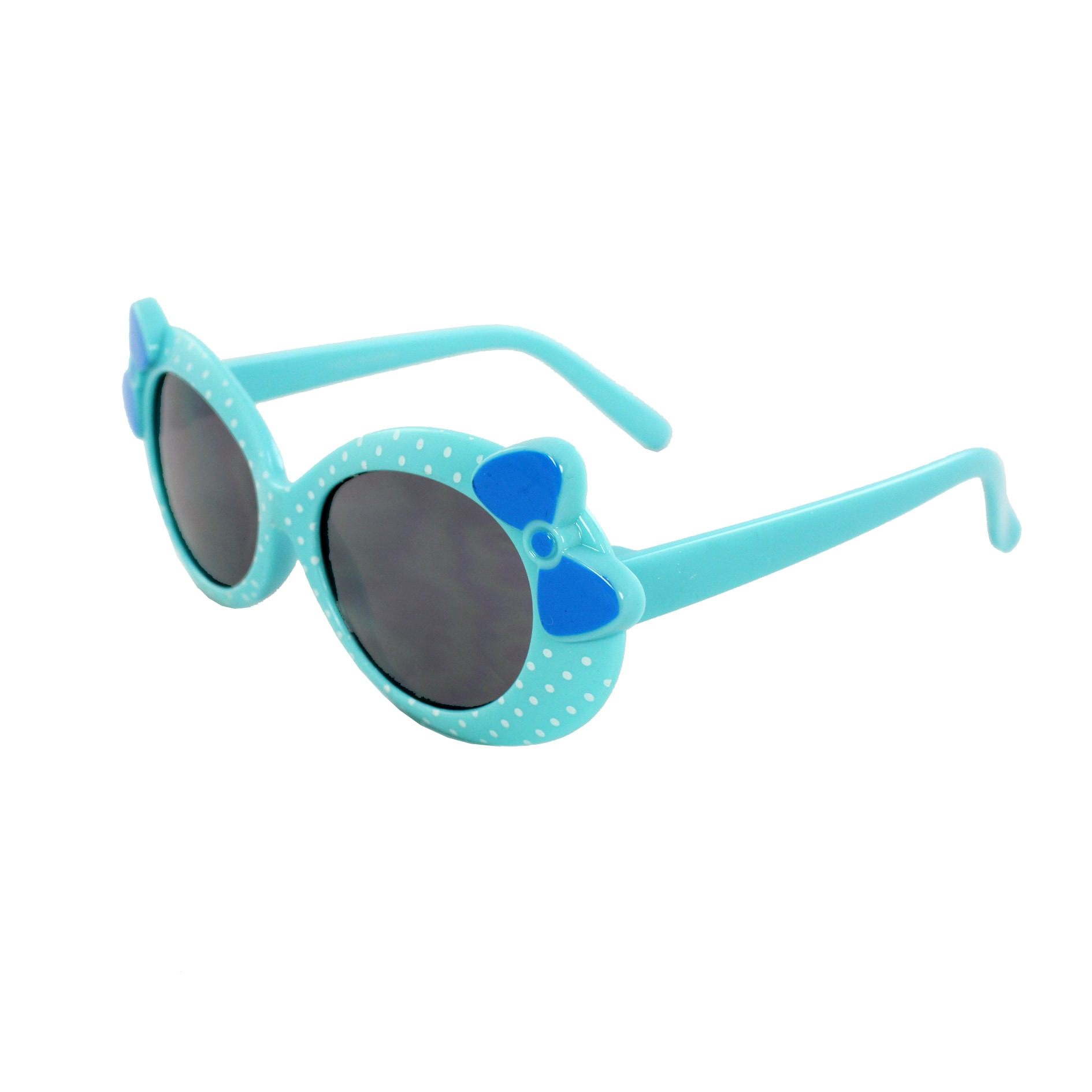 Kid's K0208-BUSM Oval Fashion Blue Frame Polka Dot Sunglasses