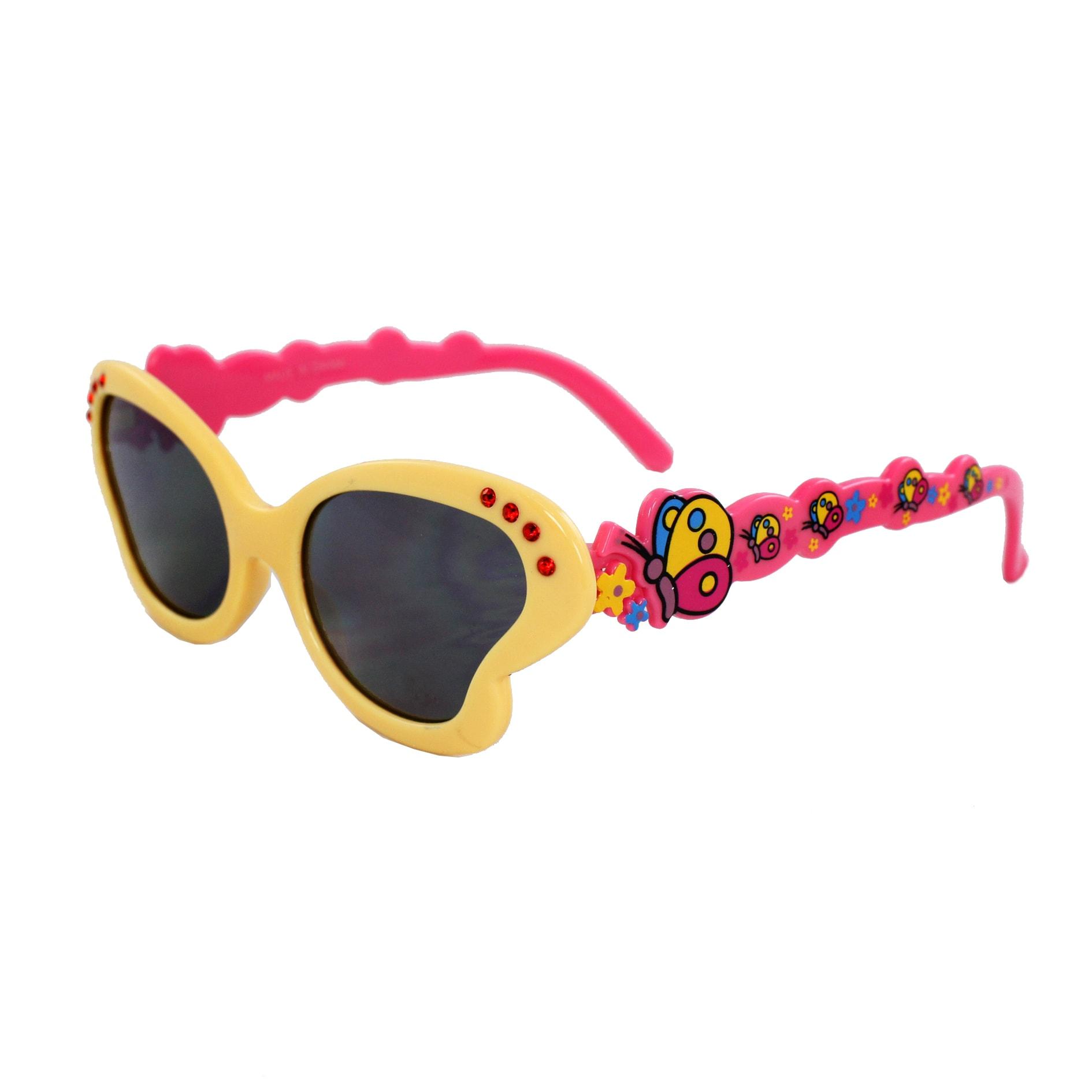 Kid's K0191-YWPKSM Butterfly Fashion Sunglasses